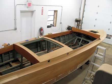Restoration of antique and wooden boats for Chris craft boat restoration