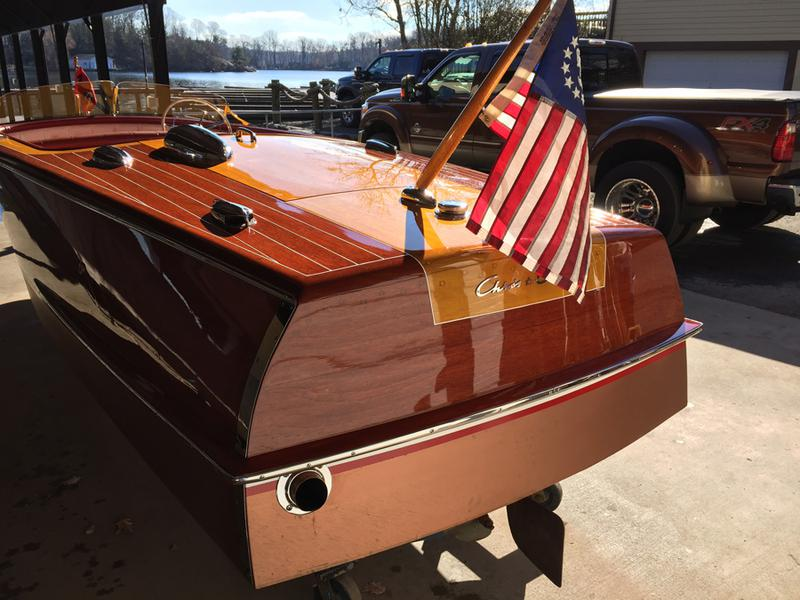 1950 18 39 chris craft riviera for Chris craft boat restoration